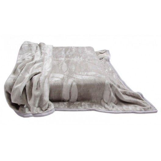 Kvalitné deky na postel sivé akrylové