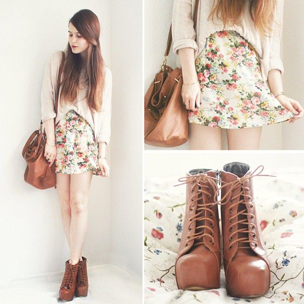 Instagram photo by @OOTD Magazine via ink361.com. I like this idea but with leggings (skirt is too short)!
