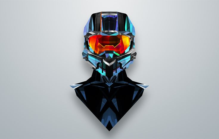 Famous helmets given a geometric twist in this stunning project