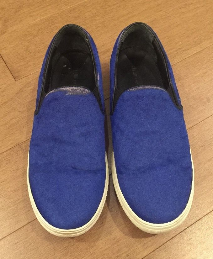 CELINE PARIS Shoes Sneakers Slip On Calf Skin Electric Blue Size 42  | eBay