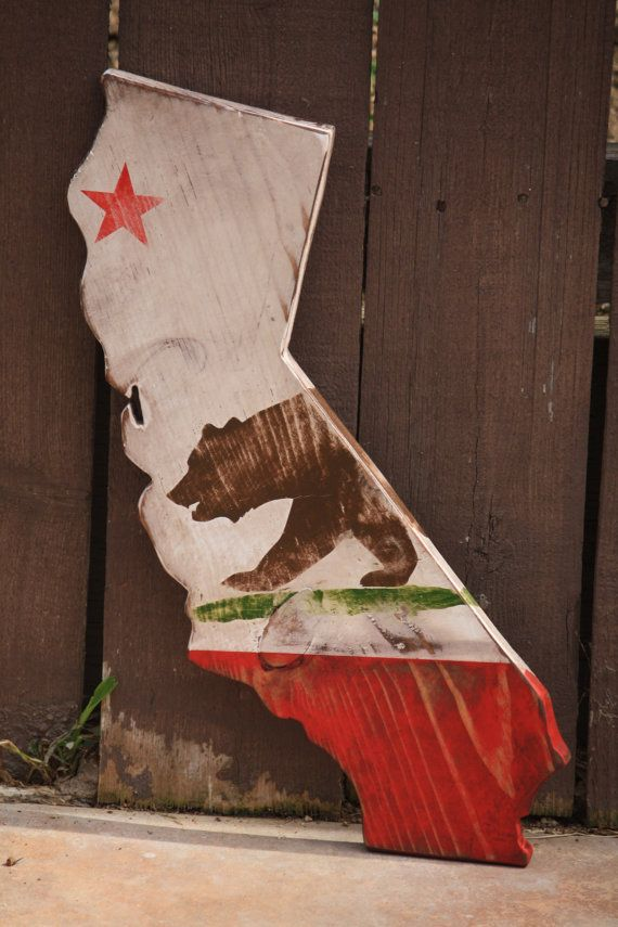 State of California Flag Rustic/Stressed by CaliforniaRustic, $38.00