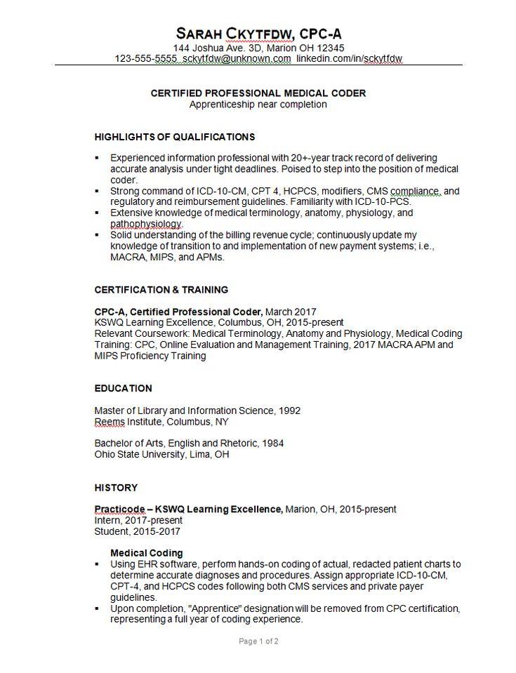 Combination-resume-sample-medical-coder-c-susan-ireland-1.png (743×969)
