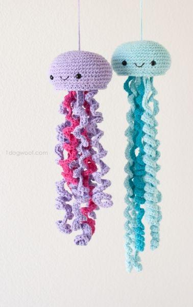 Fun jellyfish - Free amigurumi pattern