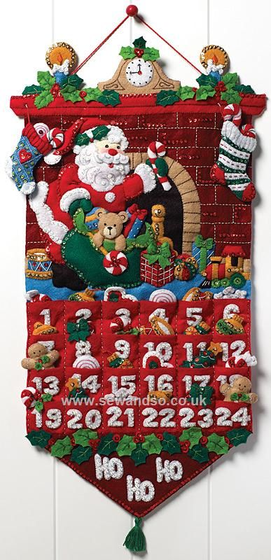 Shop online for Must Be Santa Advent Calendar Felt Applique Kit at sewandso.co.uk. Browse our great range of cross stitch and needlecraft products, in stock, with great prices and fast delivery.