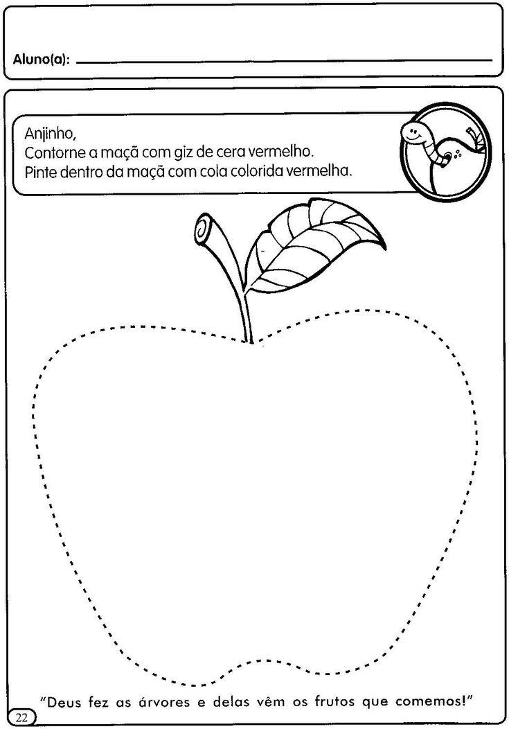 ATIVIDADES COM TRACEJADO PARA MATERNAL | Cantinho do Educador Infantil