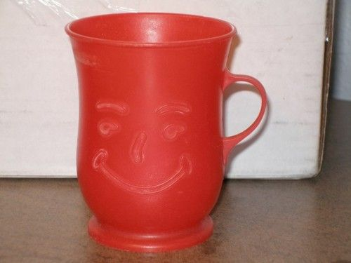 Plastic Kool Aid Mugs.  Ours was white and changed colors when you added a cold drink
