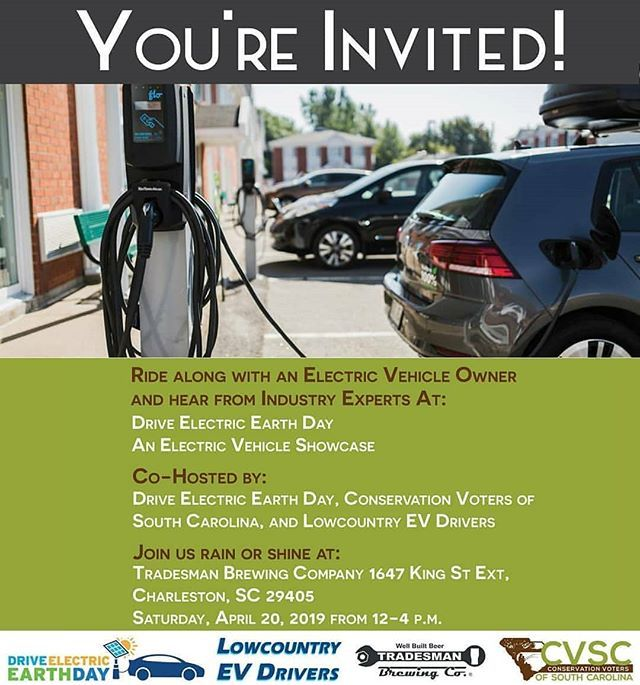 Mark Your Calendars Fastrepost From Charlestongreendrinks Hear From Industry Experts And Ride Along In An Electric Ve Electric Cars Ride Along Electricity
