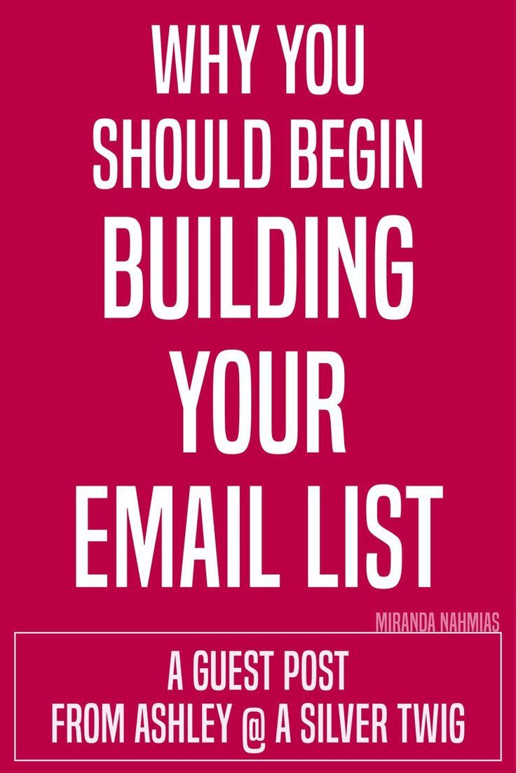 how to build an email list for marketing