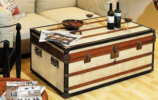 Polo Club Trunk, Small  Ideal as coffee tables, combining storage with functionality and design! Every trunk carries two sliding trays painted in signal-red. Roomy and strong, heirlooms for generations to come.  Price £1,540.00