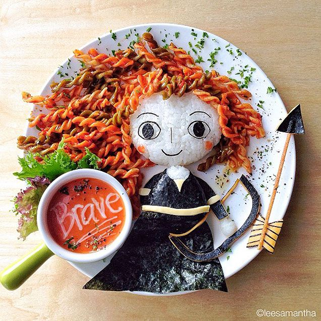 Samantha Lee food art - Brave! http://www.ivillage.com/youve-gotta-see-moms-amazing-food-art/3-a-550288?cid=tw|10-23-13