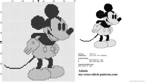 Disney Topolino vintage in bianco e nero
