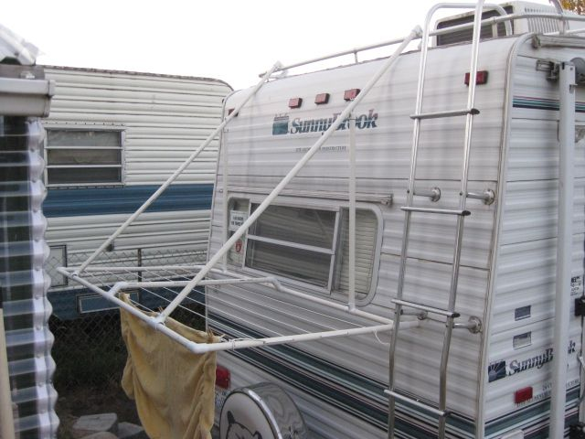PVC Projects for Camping | PVC PORTABLE CLOTHES LINE, MOUNTS ON RV LADDER, FOLDS FLAT FOREASY ...