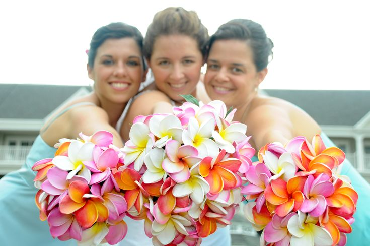 hawaiian flowers bridal bouquet | Wedding Flowers: plumeria wedding flowers