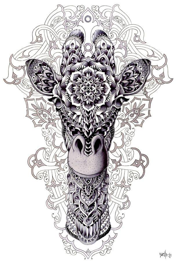 Giraffe by BioWorkZ.deviantart.com on @deviantART
