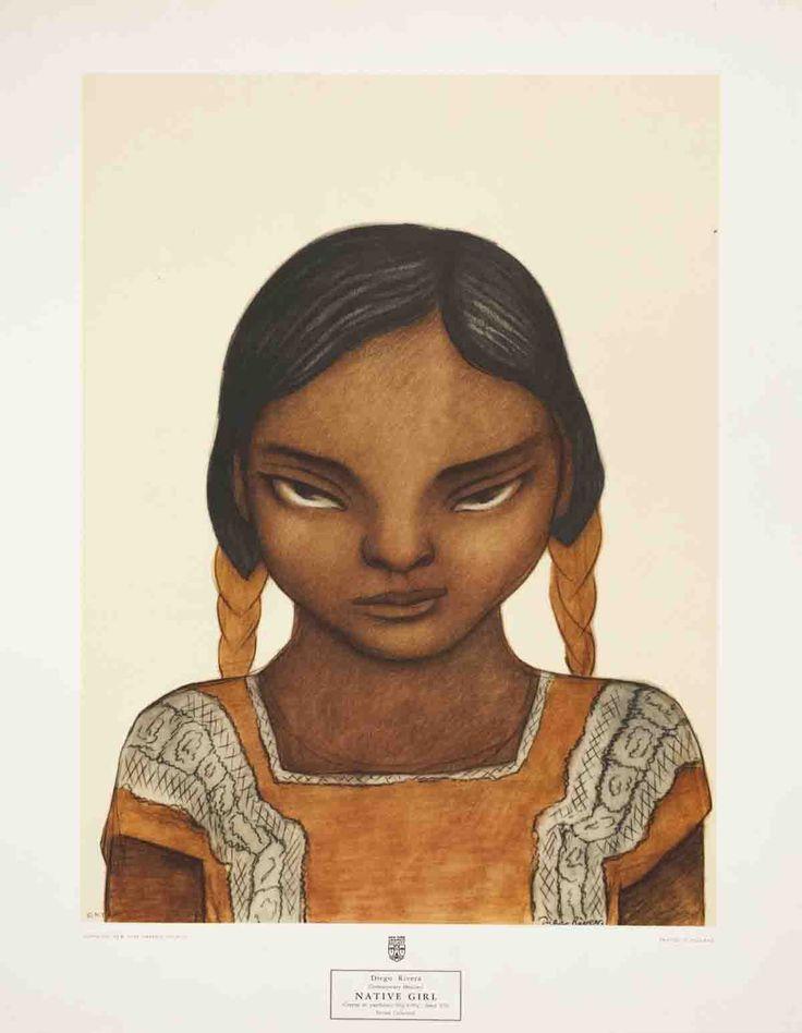 Diego Rivera-Native Girl-Poster