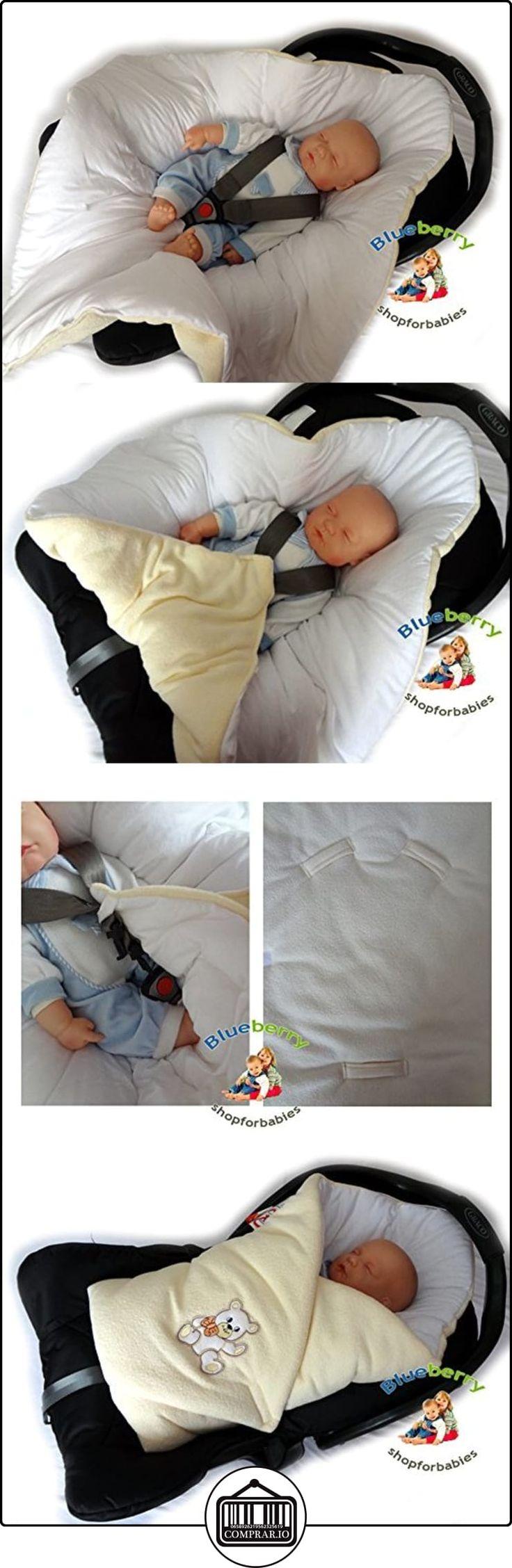 BlueberryShop Thermo Algodón Con Bucles Sábana Asiento Coche Manta Edredón Saco de Dormir Regalo Algodón 0-4m ( 0-3m ) ( 78 x 78 cm ) Blanco  ✿ Regalos para recién nacidos - Bebes ✿ ▬► Ver oferta: http://comprar.io/goto/B00EX5D0RS