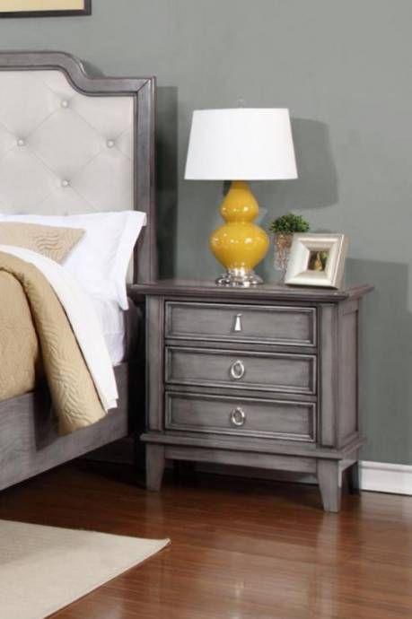 myco furniture an521k anastasia grey button tufted headboard king rh pinterest com