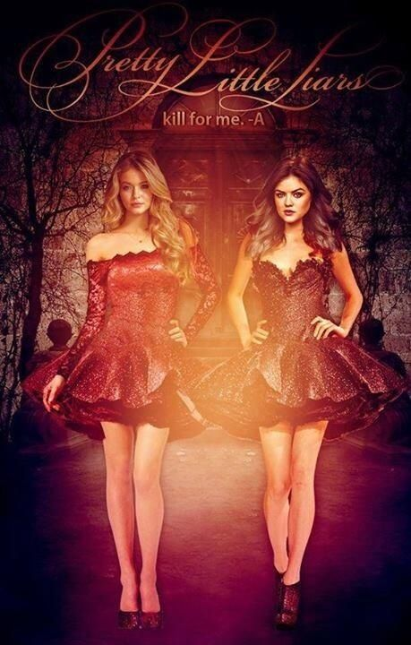 Crazy Theory Why only Aria and Alison are in this poster? They dress in a similar way, and in black... --AriA & Alison are A
