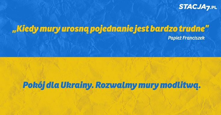 Modlitwa o pokój na Ukrainie. #Ukraine #peace #pope #Francis