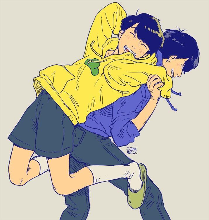 Osomatsu-san- Karamatsu and Jyushimatsu #Anime「♡」