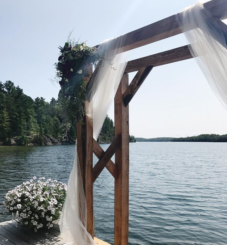 """55 Likes, 6 Comments - Waltzly (@waltzlyevents) on Instagram: """"A perfect wedding ceremony arch complete with a gorgeous lake background 👌🏻wouldn't you agree?"""""""