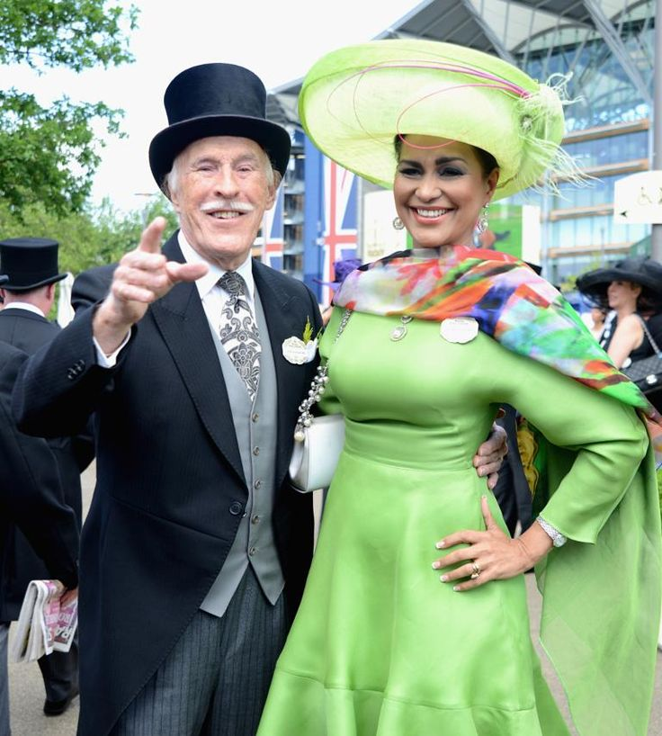 Bruce Forsyth and his wife Wilnelia Merced at Royal Ascot, 2014