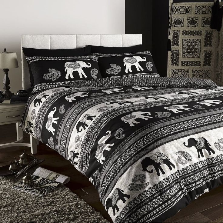 shop our range of duvets, duvet covers, sheets and bedding.Empire Indian Elephant Duvet Set - Black at www.tjhughes.co.uk. TJ Hughes Price £12.99