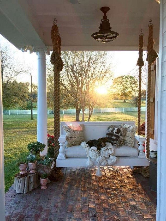 How To Maximize Your Outdoor Space With 39 Dream House Porch Swing Design Sepatula Com Outdoo In 2020 Farmhouse Style Decorating Porch Design Modern Farmhouse Porch