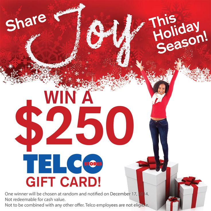Share Joy This Holiday Season! We're sharing the joy this holiday season with a $250 Telco gift card! Enter to win here: bit.ly/1y4Amtb #Telco #giveaway #giftcard #sharejoy #telcojoy