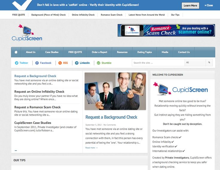 Background check for dating sites