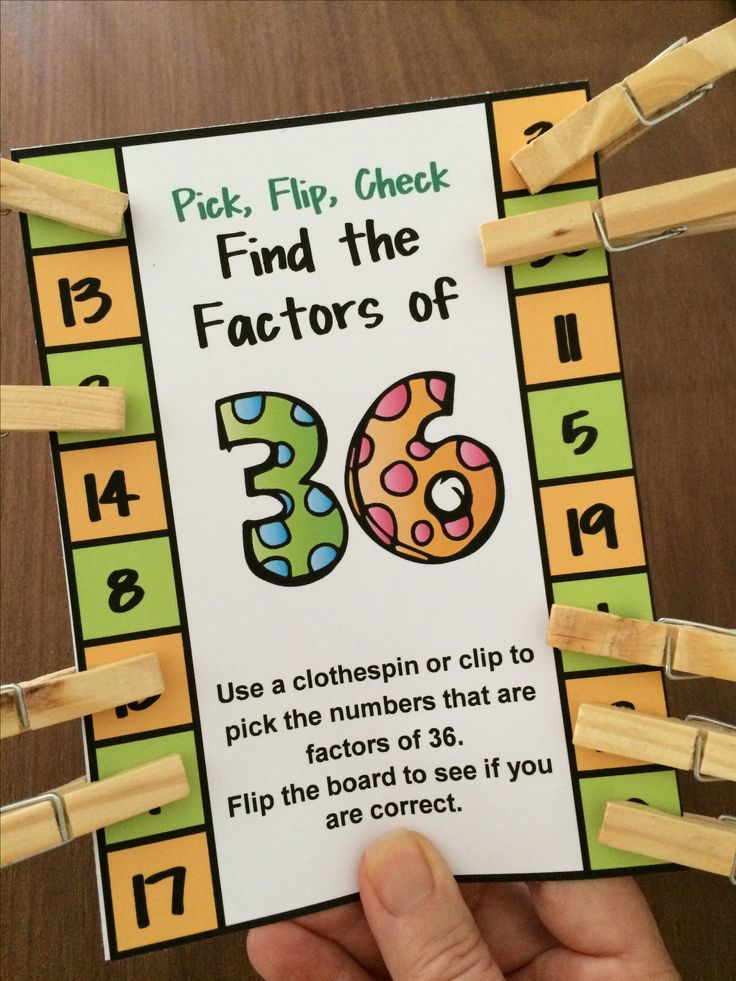 Kids love these self correcting factors cards! Factors Pick, Flip and Check cards by Games 4 Learning - The fun way to review factors! $