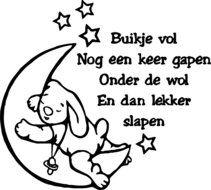 maan met konijn muursticker, te koop via www.stickerplace.nl