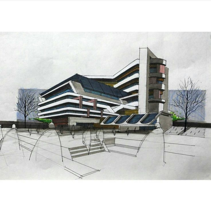 """Architecture Daily Sketches on Instagram """"By shahin"""
