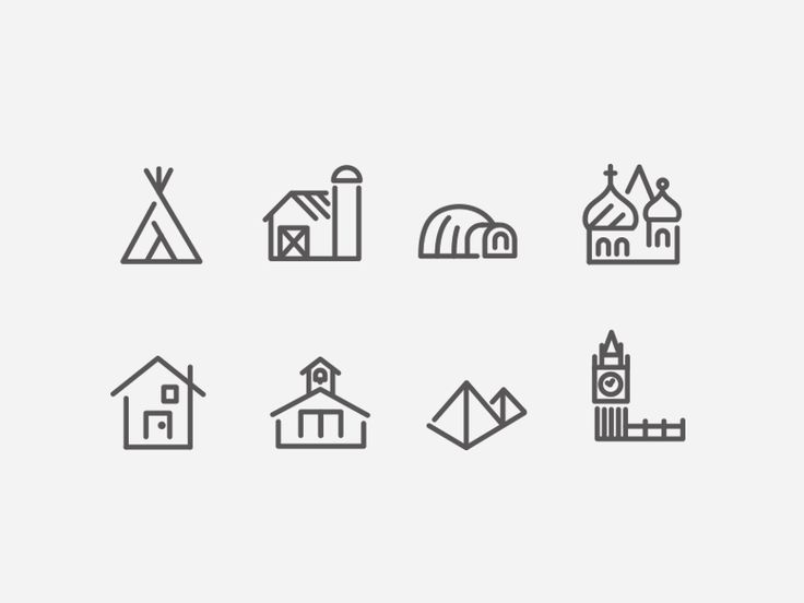 Working on a set of travel icons . . .  Lots and lots more in the oven. On another note, feels weird to be doing line-based stuff.