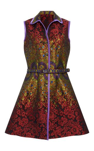 Brocade Belted Dress by Cynthia Rowley