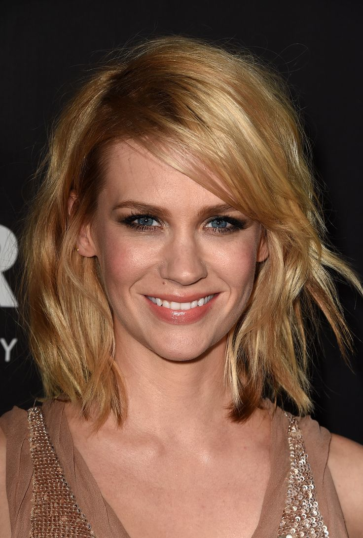 If you want a hairstyle and color that will look good no matter what you do to it, try a multitonal lob like January's.
