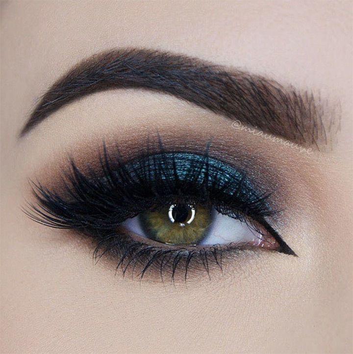 blue smokey eye ~  we ❤ this! moncheribridals.com