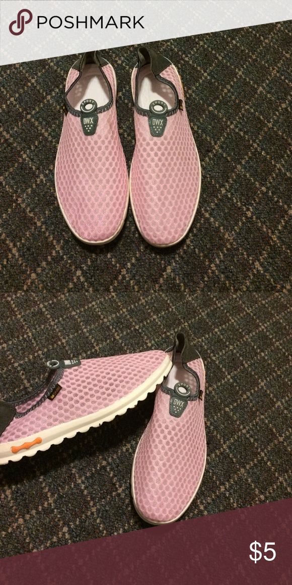 Sneakers pink Sheer sneakers in pink and white rubber sole. Never worn. Can be used in water like pool or ocean. Shoes Sneakers