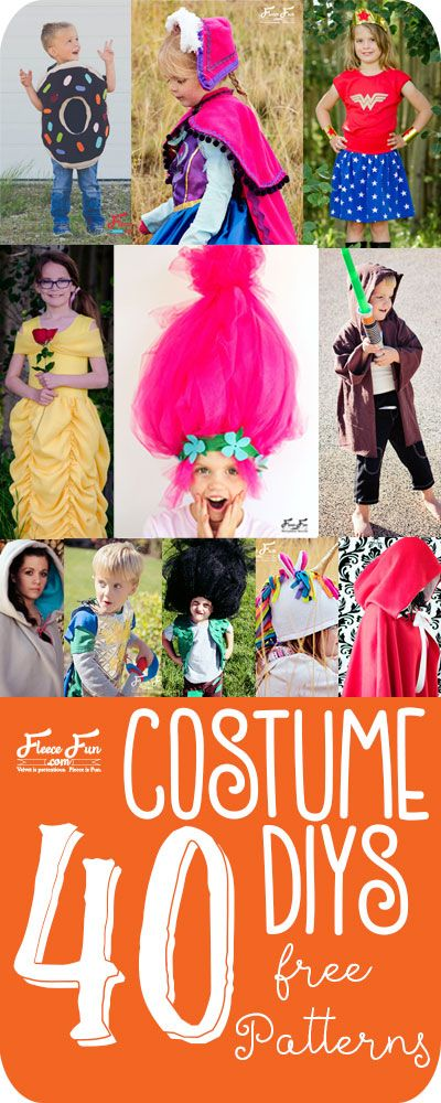 love this collection of costume tutorials.  There is something for everyone! Great costume ideas DIY.  There are costumes for kids and adults and some amazing cape patterns.