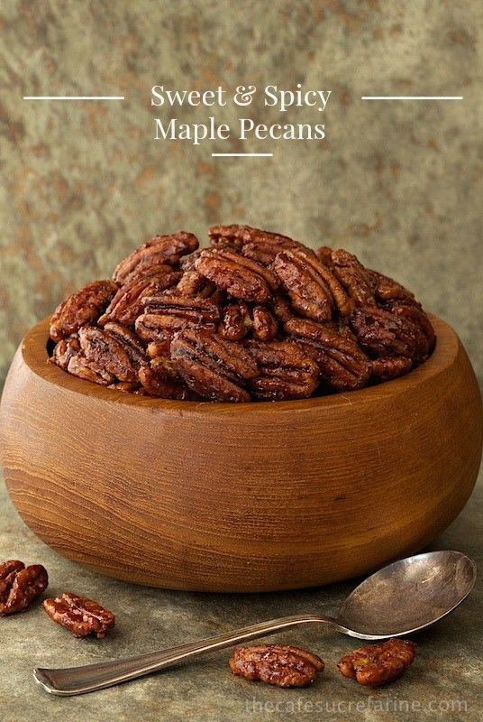 Sweet and Spicy Maple Pecans