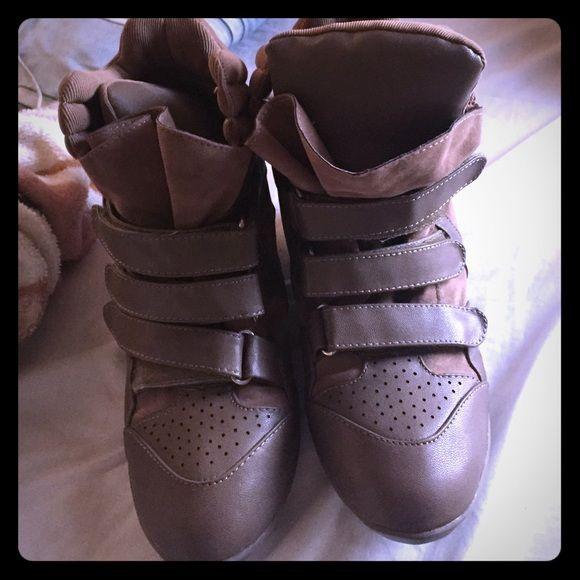 Wedge sneakers from karma loop Studded wedge sneaker Shoes Sneakers