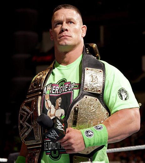 John Cena in neon green.