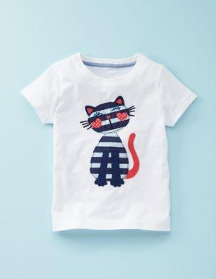 Patchwork Applique T-Shirt for toddler.
