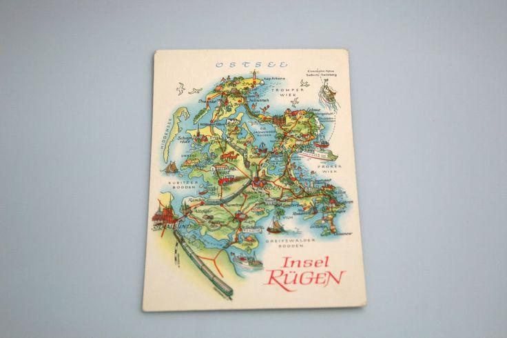 Alte DDR Ansichtskarte Insel Rügen 7.8.67 Karte ist gelaufen und beschrieben. Pr