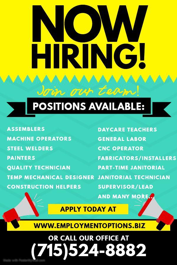 Pin Oleh Employment Options Inc Di Looking For A Job Preschool teacher jobs near me part time