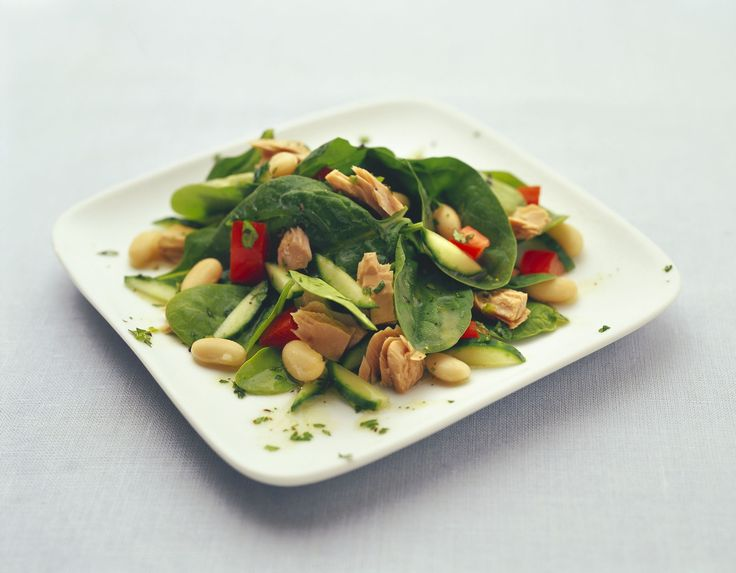 Make Life Easy with this Tuna, Spinach and White Bean Salad recipe! LIKE us at https://www.facebook.com/goldseal  #PinToWin #NoDrainer #MakeLifeEasy