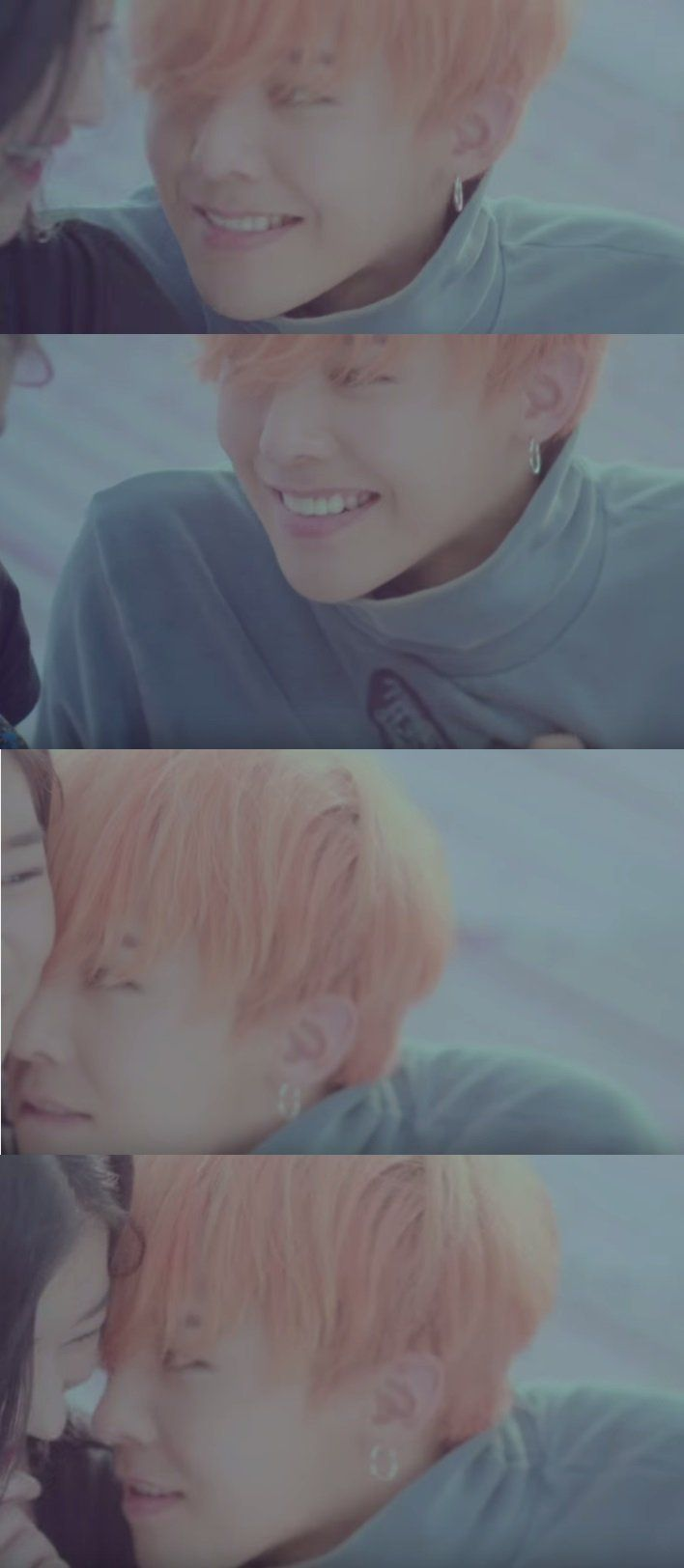 Let's Not Fall In Love MV. Scene with GD and his MV girlfriend. I was squeeeing so much at this scene, and couldn't look away xD
