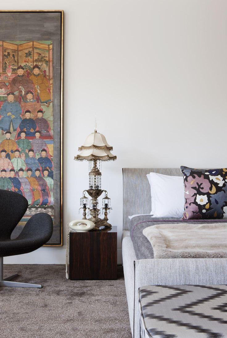 Bedroom In David Hicks Melbourne Penthouse