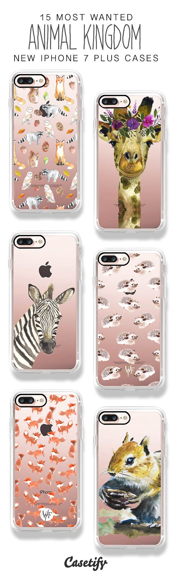 Here Comes the Animals Kingdom! 15 Most Wanted Animal iPhone 7 / iPhone 7 Plus Phone Cases here > https://www.casetify.com/artworks/itDNpF6Bkm