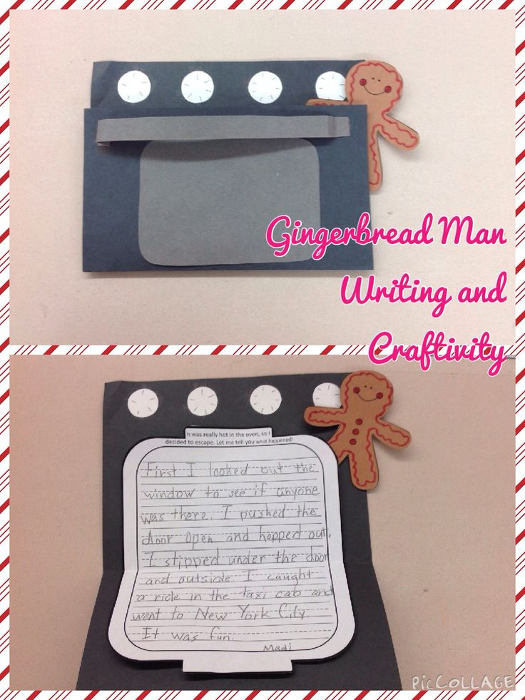 This gingerbread man writing and craft is so fun for the students! The oven door opens up to display their writing!